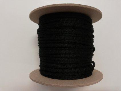 Oděvní šňůra 4mm černá