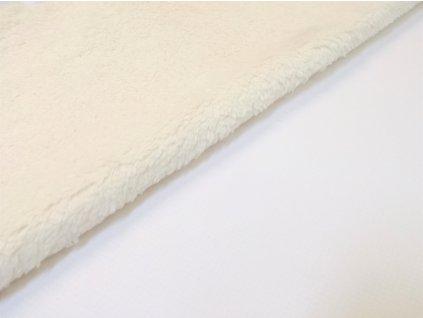 ZIMNÍ softshell s beránkem bílý
