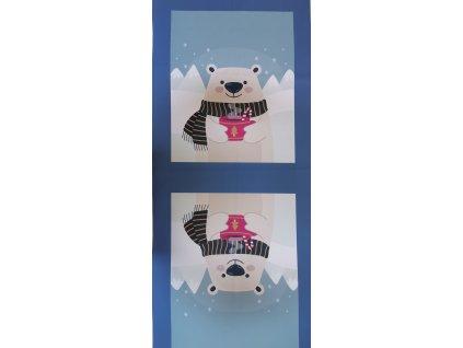 Panel na tašku kočárkovina Lední medvěd 50 x 120