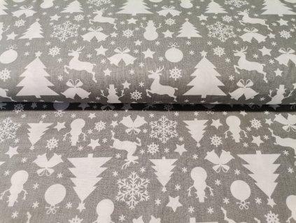 Vánoční motivy na šedé (1)