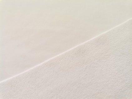 Prémiová počesaná teplákovina - bílá