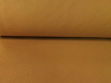 Bavlněný náplet s elastanem Velbloud 2x2 žebro K290