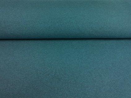 Teplákovina s elastanem 290g/m2 PETROLEJOVÉ melé K