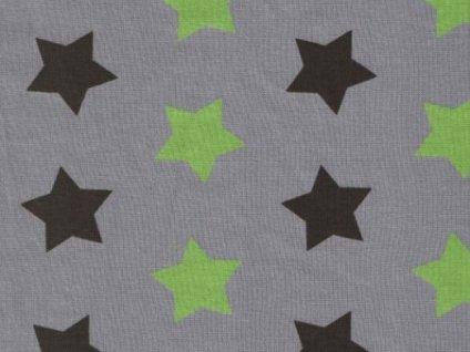 hvězdy černá&zelená