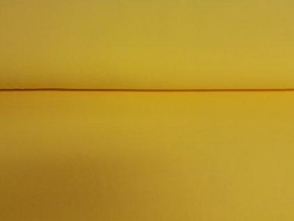 Bavlněný úplet s elastanem Banánový žlutý K 200g/m2