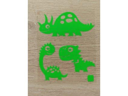 zelená dinosauří mláďata
