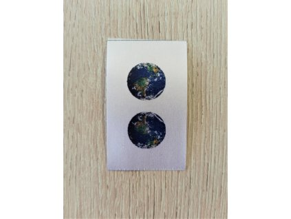 Barevné etikety do švu - Zeměkoule