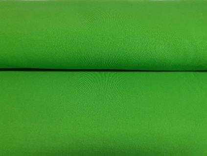 Teplákovina s elastanem 290g/m2 SYTĚ ZELENÁ K