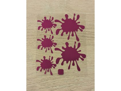 Metalické nažehlovací obrázky - kaňky purpurové