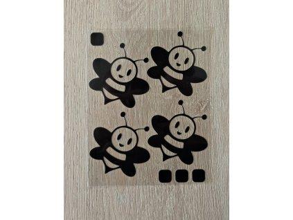 Černé nažehlovací obrázky - včeličky
