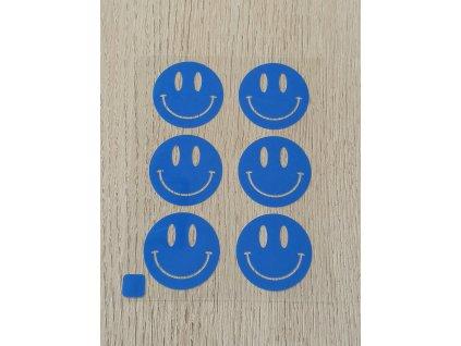 Neonové nažehlovací obrázky - smajlíci modří