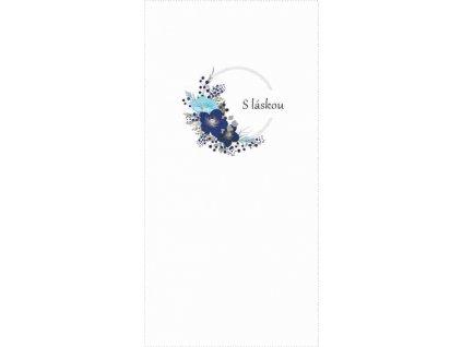 modrý květ s láskou