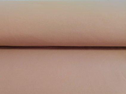 Teplákovina s elastanem 290g/m2 PUDROVÁ K