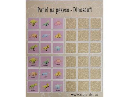 Panel na pexeso Dinosauři 77x90cm