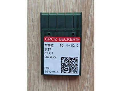 Jehly strojové B27/81x1/DCx1 70-100 80/12