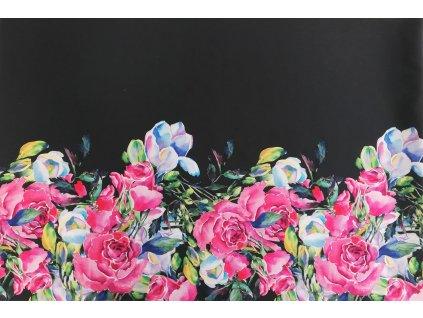 bordura pastelové růžové květy (2)