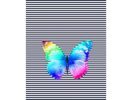 motýl proužky