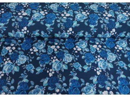 Kočárkovina Růže v modrém