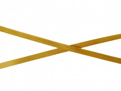 Keprový proužek - Tkaloun jasně hořčicový 1 cm