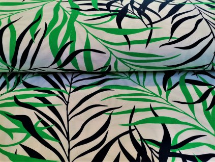 Bambusový úplet modro zelené kapradí