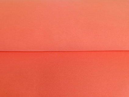 Teplákovina s elastanem Neon oranžové melé (2)