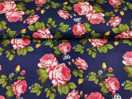 Růže na tmavě modré (2)