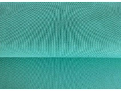 Bavlněný náplet s elastanem Zelený mentol 2x2 žebro K