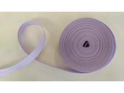 Šikmý proužek 20mm Bavlna založený - Světle levandulový
