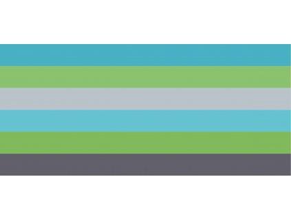 Prémiová počesaná teplákovina -  Slůně - modré proužky