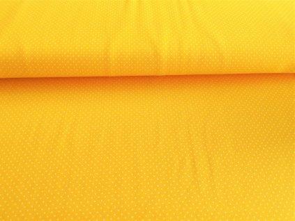 Bílé puntíčky na žluté