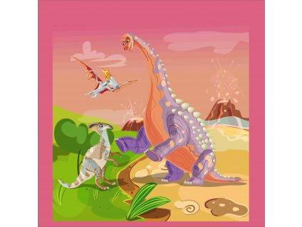 fialový dinosaurus 50x50