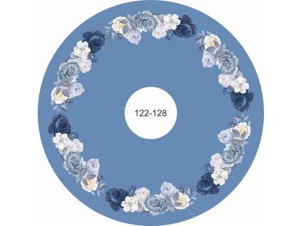 modrobílé růže na modré 122 128