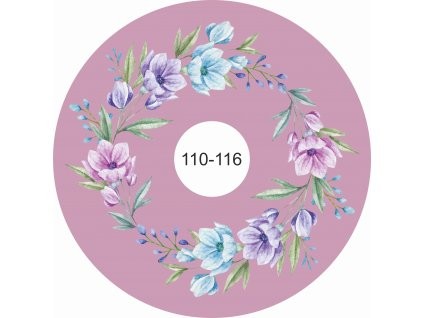 kolová sukně akvarelové květy na tmavé starorůžové 110 116