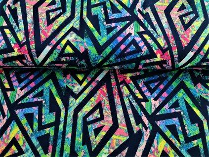 Trojúhelníky na akvarelové malbě