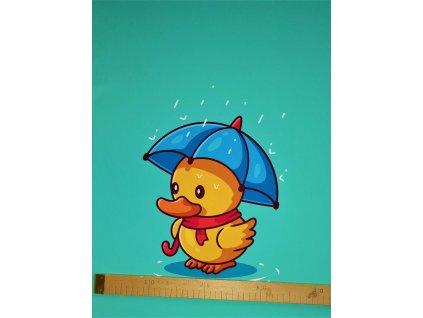 Panel 49x60 Káčátko s deštníkem   - letní softshell