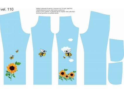 Panel na softshellové kalhoty vel.110 Včelky a slunečnice