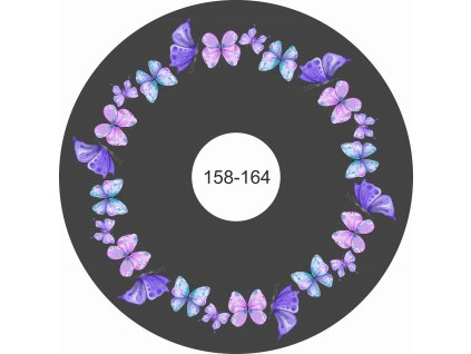 Motýlci na černé 158 164