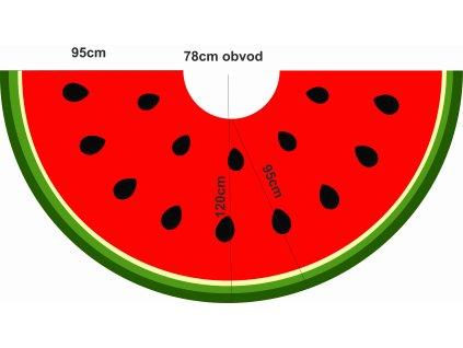 půlkolová sukně dlouhá meloun eshop