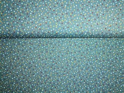 Barevné tečky na modro-šedé