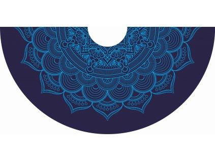 půlkolová sukně dlouhá mandala modrá 110cm délka