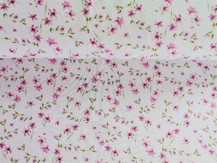 Růžové květinky