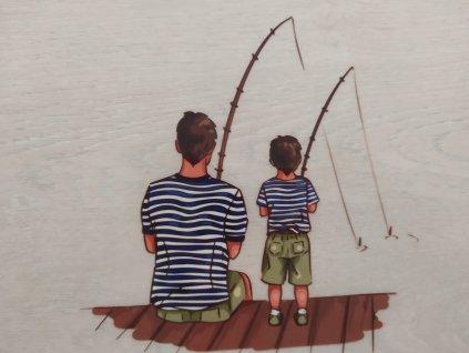 Táta a syn na rybách