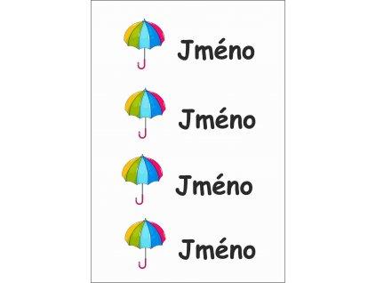 Barevný děštník jméno