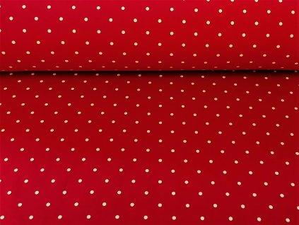 puntiky na cervene teplakovina