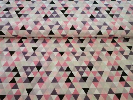 Růžové trojúhelníčky
