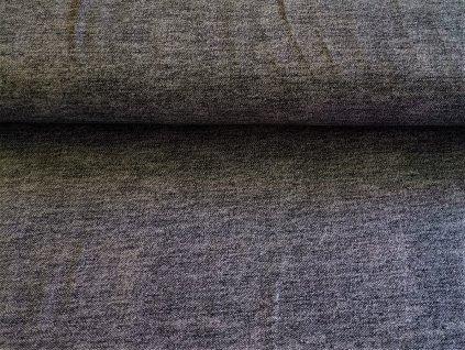 Jeans šedý melír
