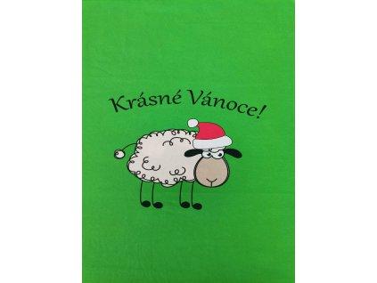Vánoční ovečka na zelené