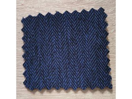 Zimní softshell RYBÍ KOST - tmavě modrý