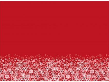 Sněhové vločky na červené 150x110