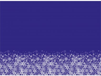 Sněhové vločky na modré 150x110